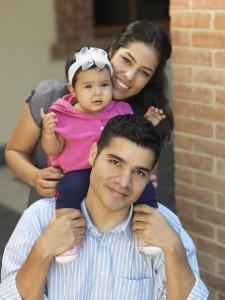 Hispanic Mom-Dad Girl Cover