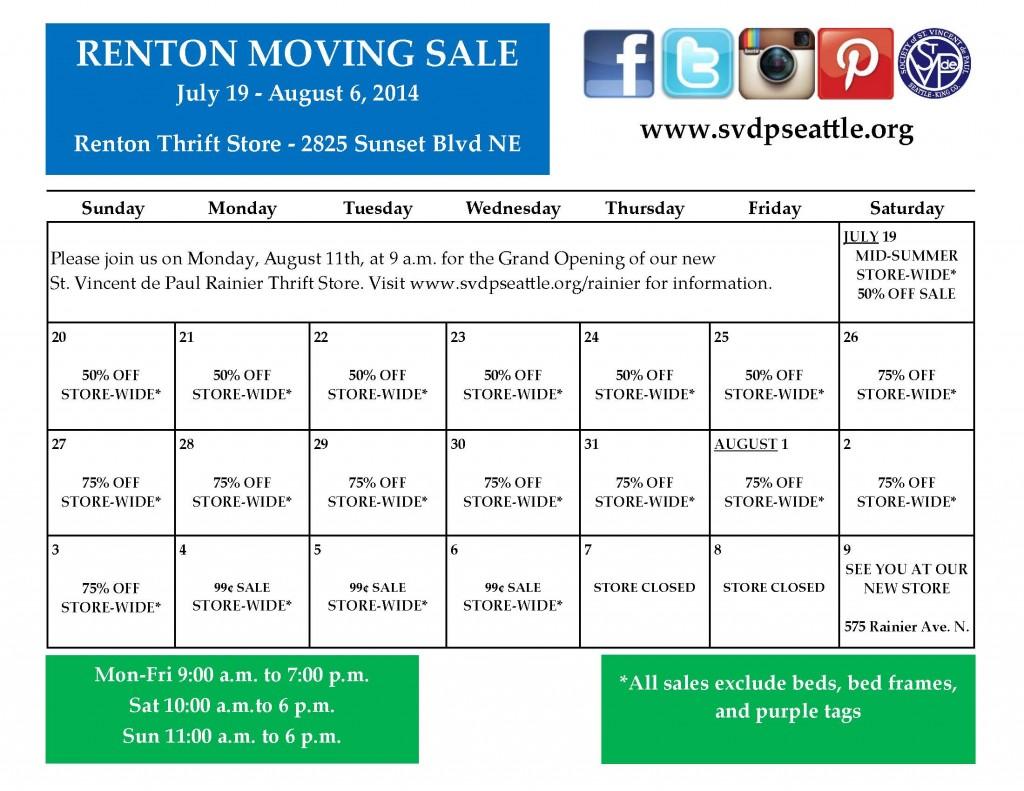 Renton Moving Sale edits