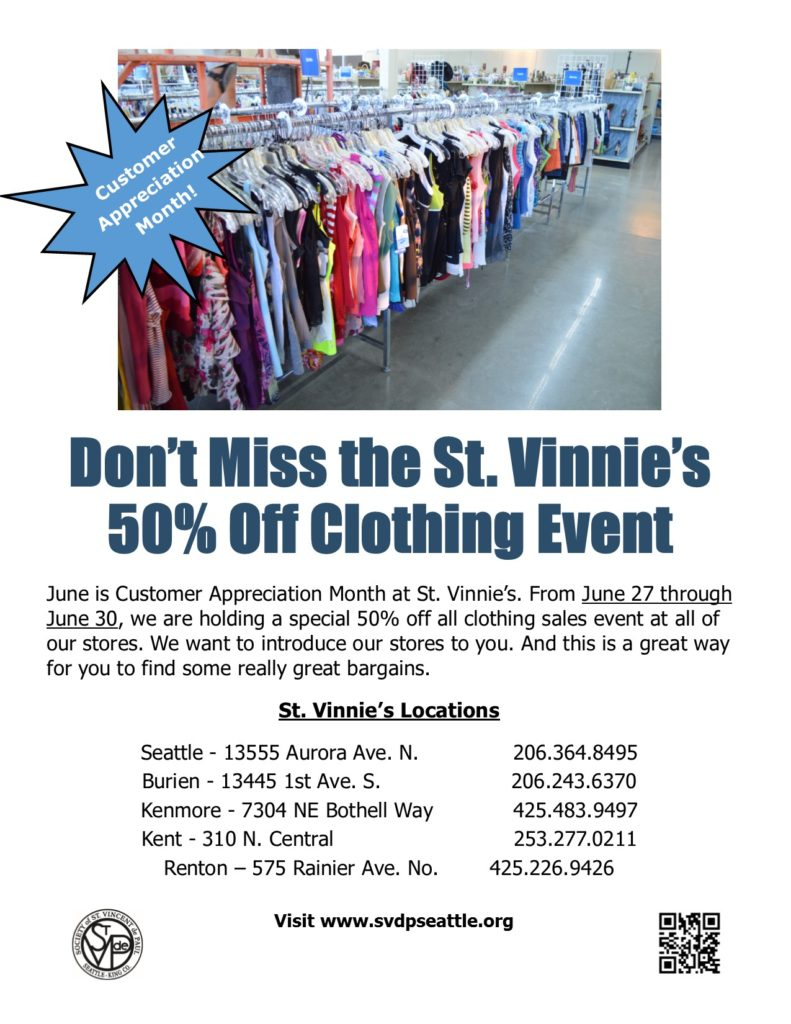 50% oFF cLOTHING june 27-30 6-20-16
