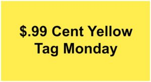 Yellow Tag Monday 8-26-16