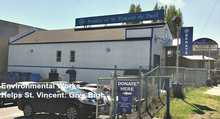 Environmental works helps st vincent give big st for Furniture bank seattle