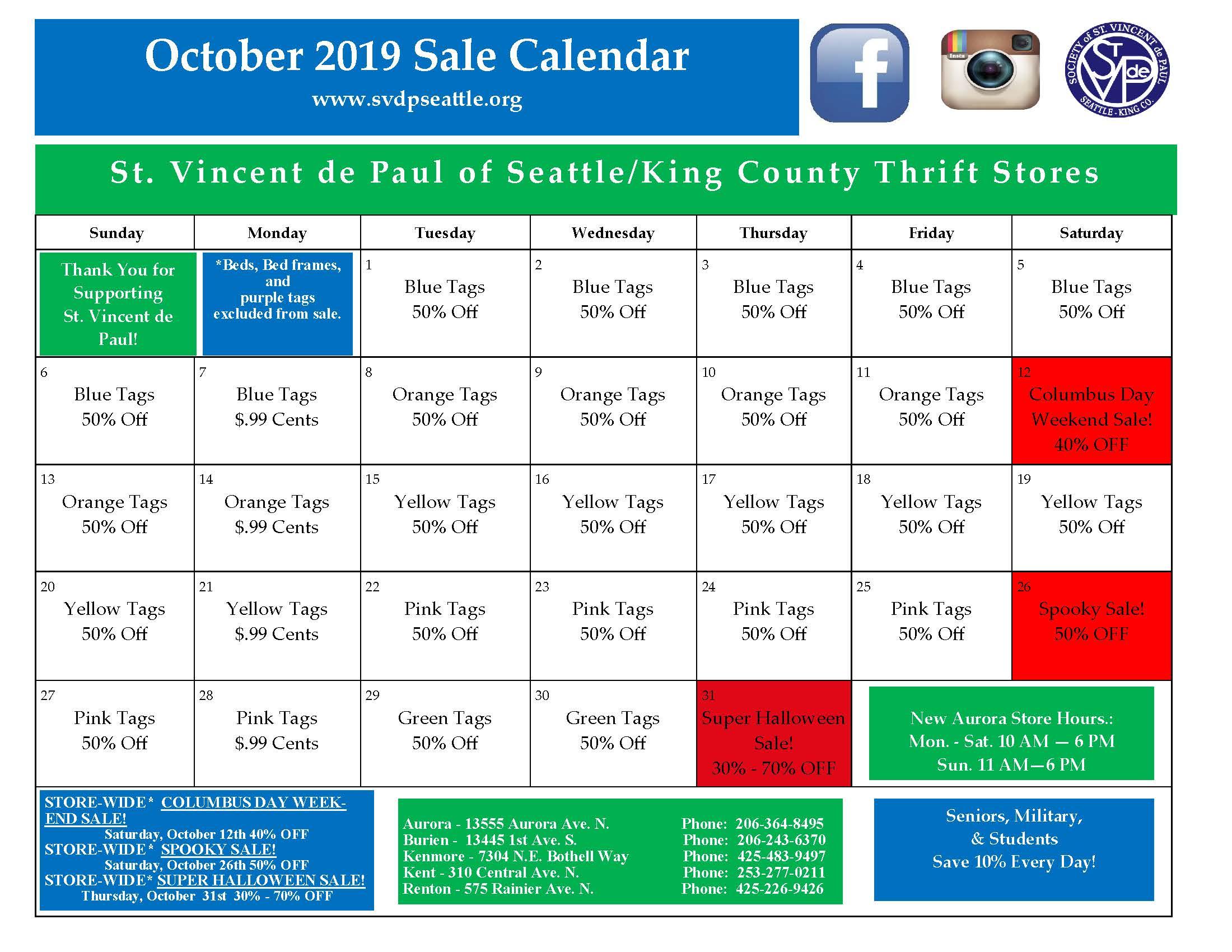 Oct 2019 Calendar 9-26-19 10am Final