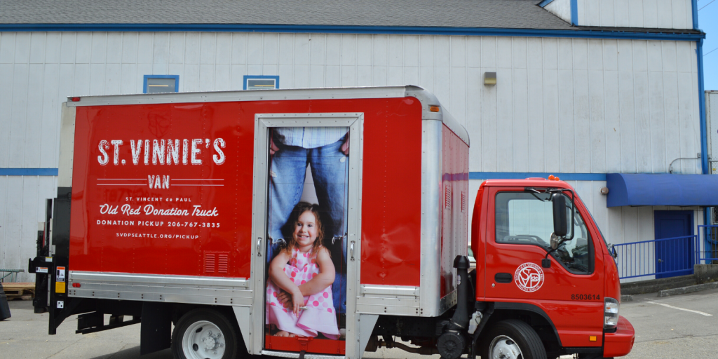 A New red St. Vinnie truck--we used to have 15-20 of these.