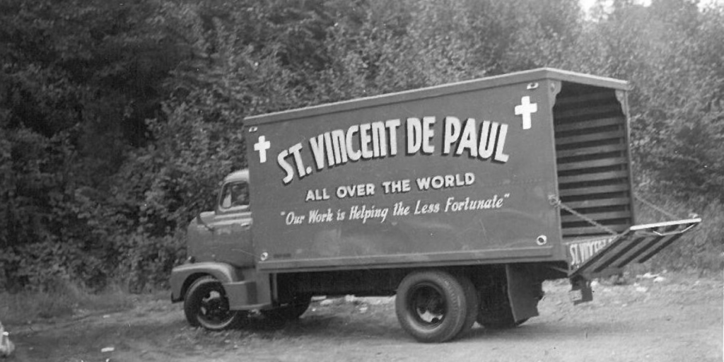 Back in the day SVdP had a fleet of more than 20 trucks going all over Western Washington picking up furniture and household items for sale at our old Salvage Bureau!